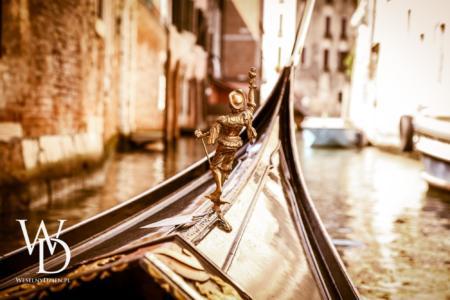 gondola, plener ślubny