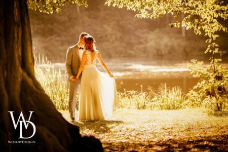 wschód słońca, plener ślubny