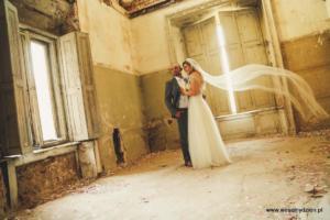 opuszczony pałac, sesja zdjęciowa.