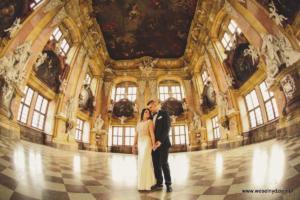 Zamek Lubiąż, romantyczna sesja ślubna