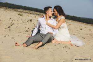 sesja plenerowa na pustyni błędowskiej, wesela i śluby knurów
