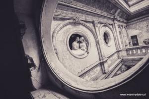 plener ślubny w zamku w krowiarkach