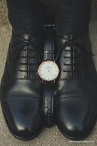 detale ślubne buty zegarek